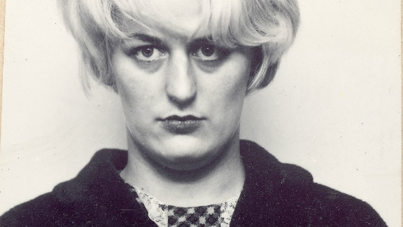 A portrait of Myra Hindley (1942 - 2002) taken during her trial. Hindley was later convicted for the murders of 17-year-old Edward Evans and 10-year-old Lesley Ann Downey.