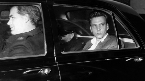 """Ian Brady in police custody prior to his court appearance for the murder of three children in 1965. Brady and his partner Myra Hindley became known as the """"Moors Murderers"""" after burying their young victims on Saddleworth Moor, Greater Manchester, UK."""