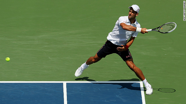 Novak Djokovic will play Argentina's Juan Martin Del Potro in the semifinals of the Cincinnati Masters on Saturday