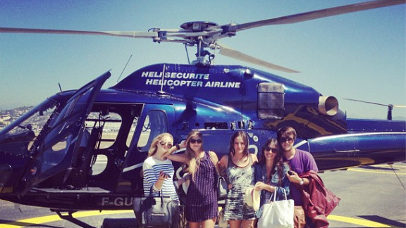"""Annabel Schwartz, pictured with friends on vacation, called the Rich Kids of Instagram blog """"embarrassing."""""""