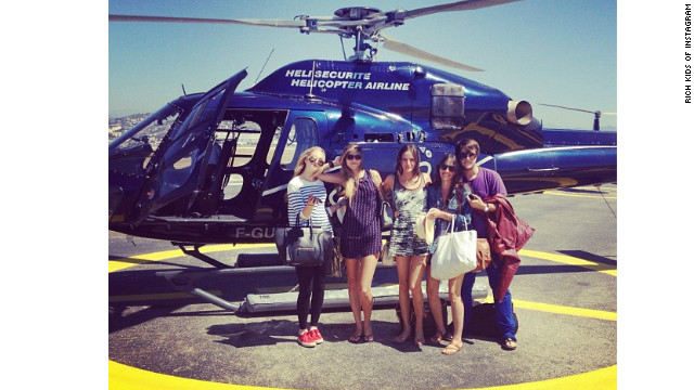 "Annabel Schwartz, pictured with friends on vacation, called the Rich Kids of Instagram blog ""embarrassing."""