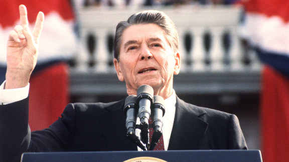 """Ronald Reagan was famous for witty one-liners in debates. In 1984 the 73-year-old said, """"I will not make age an issue of this campaign. I am not going to exploit, for political purposes, my opponent"""