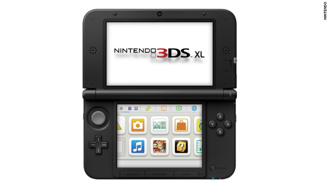 The screen on the Nintendo 3DS XL is 90% bigger than the one on the company's current hand-held device.