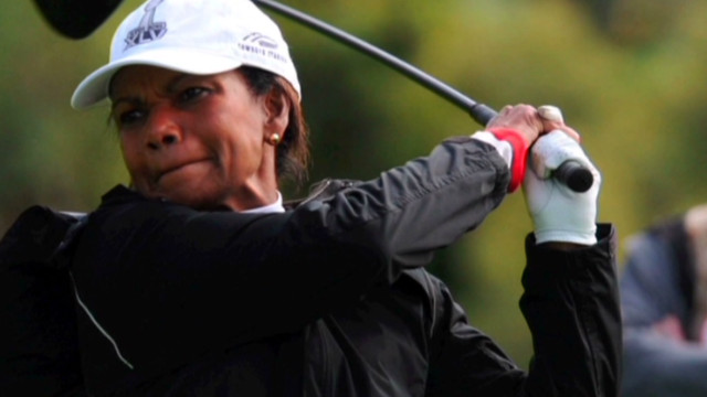 Condi Rice makes history at Augusta