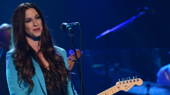 Singer Alanis Morissette at a concert in Los Angeles, California, on August 9, 2012.