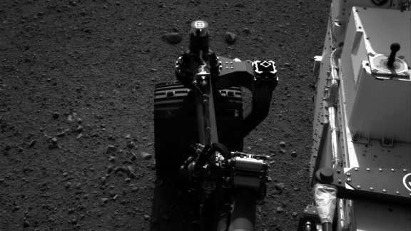 NASA tested the steering on its Mars rover Curiosity on August 21, 2012. Drivers wiggled the wheels in place at the landing site on Mars.