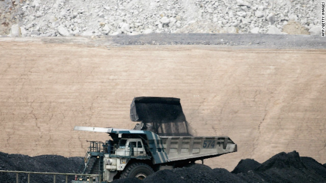 A coal truck is loaded at BHP Billiton's Mt Arthur coal mine in February  2006 in Muswellbrook, Australia.