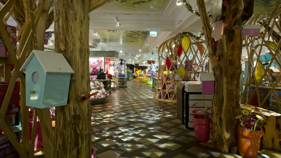 """The Enchanted Forest in Harrods' new """"Toy Kingdom"""" features wigwams full of collections from Sylvanian Families and Flutter Fairies alongside arts and crafts."""