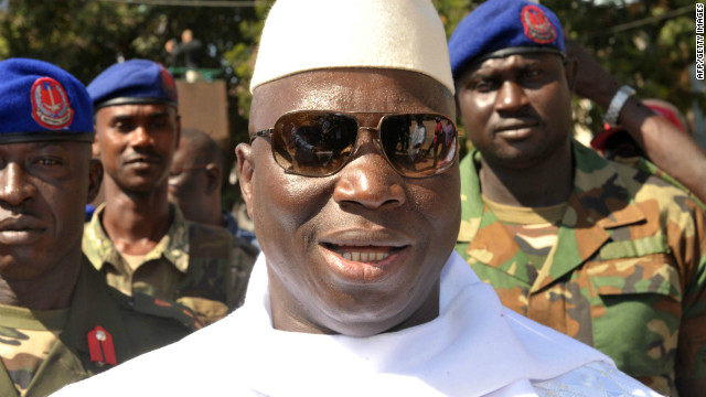 Outgoing Gambian president Yahya Jammeh seized power in 1994 in a military coup