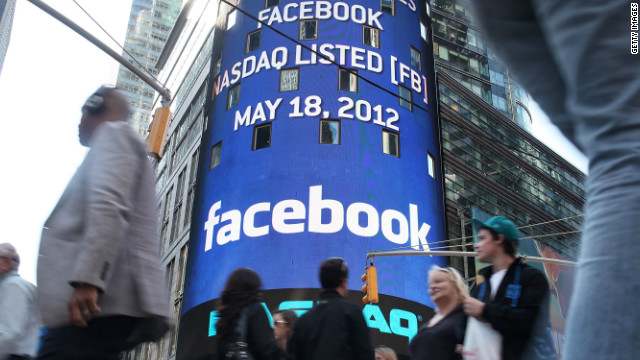 Facebook's share price has declined from $38 on its first trading day to $19 today.