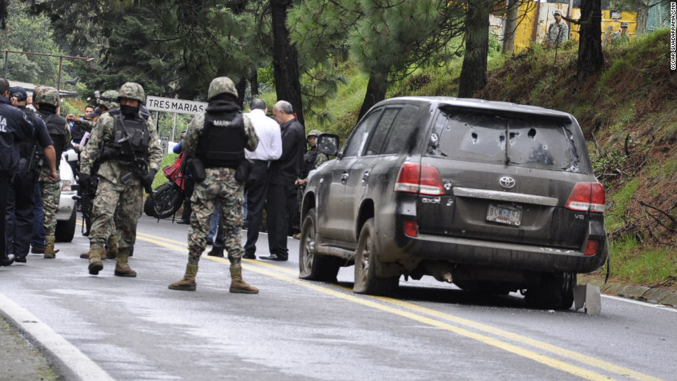 Mexicans US tightlipped over attack on US Embassy vehicle CNN