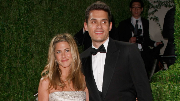 """Mayer dated Jennifer Aniston on and off in 2008 and 2009. """"I"""