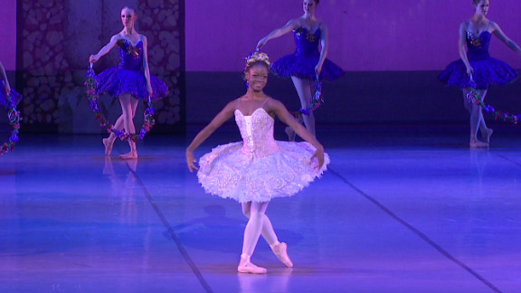 Sierra Leonean ballerina Michaela DePrince, 17, one of the ballet world