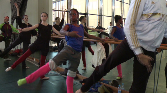 """The young ballerina says she has had to work even harder to get accepted as a black dancer into the rarefied world of ballet. """"I'm still trying to change the way people see black dancers that we can become delicate dancers, that we can be a ballerina,"""" she says."""