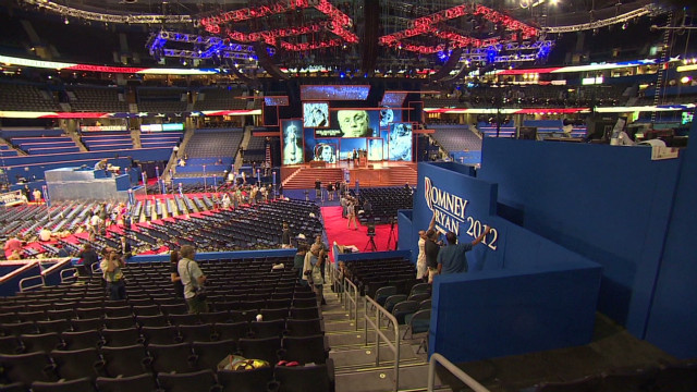 Touring the floor of the RNC in Tampa