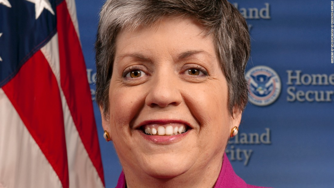 "Democrat Janet Napolitano left her post as the <a href=""http://www.nga.org/cms/home/governors/past-governors-bios/page_arizona/col2-content/main-content-list/title_napolitano_janet.html"" target=""_blank"">governor </a>of Arizona when President Obama <a href=""http://edition.cnn.com/2008/POLITICS/12/01/transition.wrap/index.html"" target=""_blank"">named her</a> the third Homeland Security Secretary, the <a href=""http://www.cnn.com/2013/03/07/us/janet-napolitano-fast-facts/"" target=""_blank"">first</a> woman to hold the position."