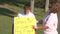 Mother Shames Son With Pot Smoking Sign