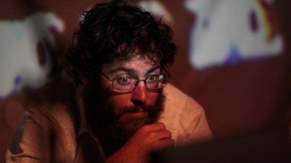 "Nathan Pim of The Autonomous Playhouse prepares to perform ""Momma Nature vs. the Foreclosure Crisis."""
