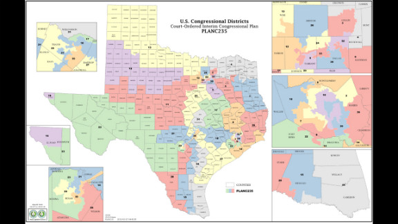 The Court-Ordered Interim Congressional Plan for redistricting in Texas.
