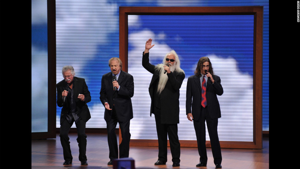 American country and gospel vocal quartet Oak Ridge Boys perform.