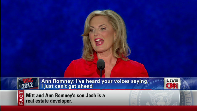 Ann Romney to women: 'I hear your voices'