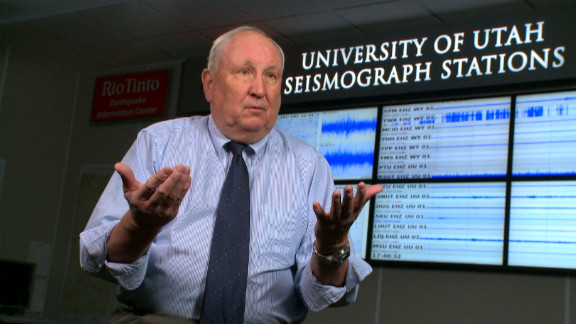 Dr Bob Smith believes a supervolcano eruption under Yellowstone  would cover the western U.S with ash that would also enter the jet stream potentially crippling air travel and the world