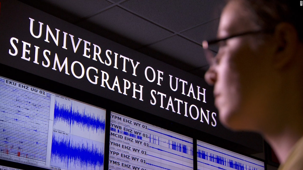 Scientists at the Yellowstone Volcano Observatory at the University of Utah are constantly monitoring the underground supervolcano for ground movements and earthquake activity.