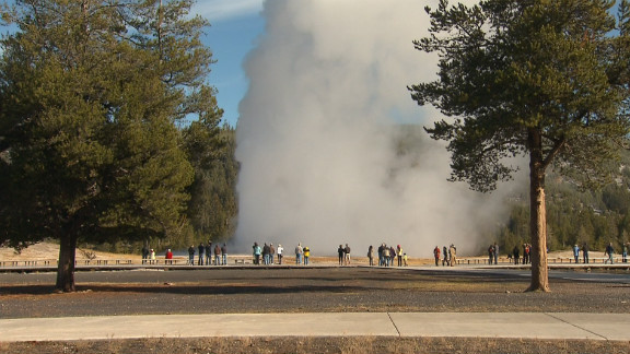 Old Faithful is one of Yellowstone