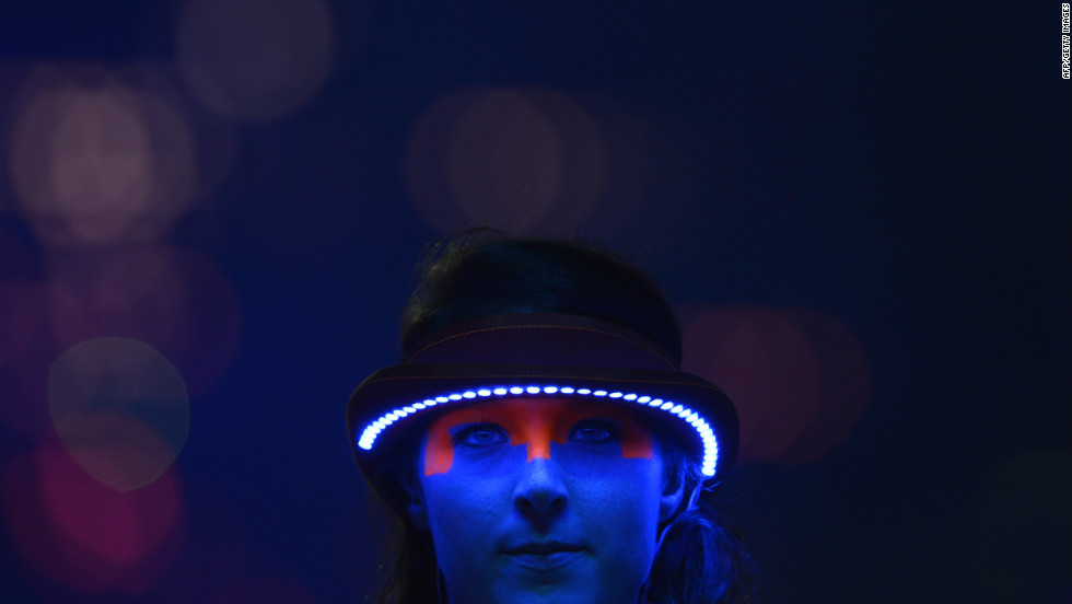 Some performers wore lighted visors.
