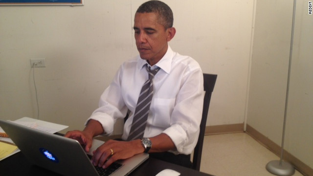 President Barack Obama answered questions on the social-sharing site Reddit on Wednesday afternoon.