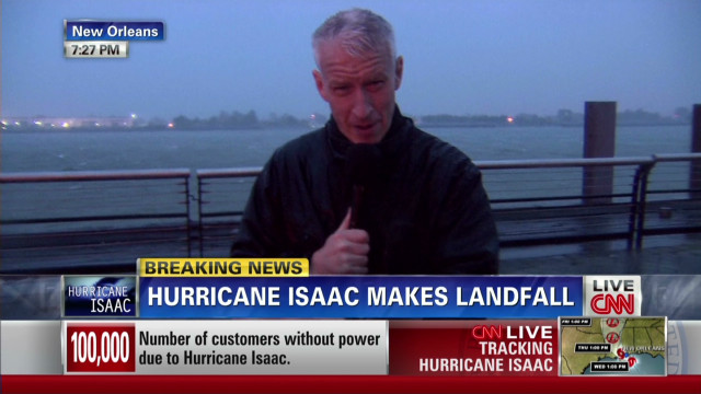 Hurricane Isaac landfall in Louisiana
