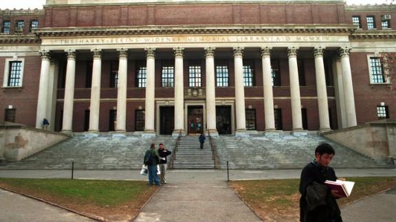 Widener Memorial Library at Harvard University in Cambridge, MA.