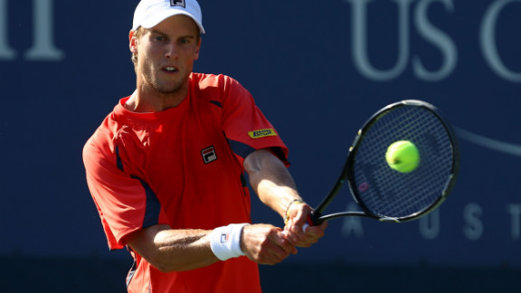 Italian Andreas Seppi hits a backhand during his men