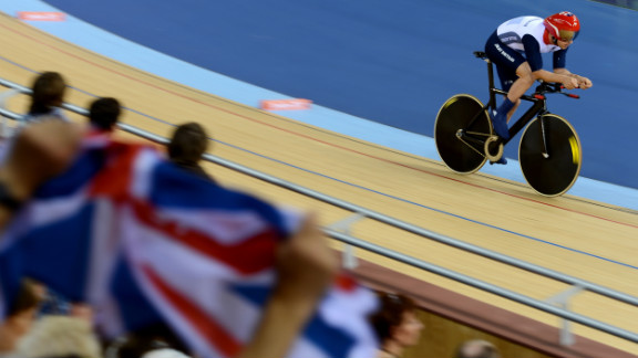 Mark Colbourne of Great Britain competes in the men