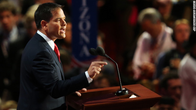 Marco Rubio introduces Romney at RNC