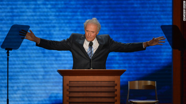 Eastwood uses empty chair as prop at RNC