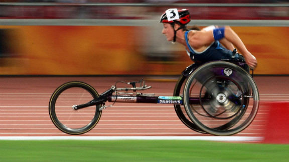 Tatyana McFadden is an eight-time world champion sprint athlete from the United States. She has previously participated in Paralympic Games in Athens and Beijing. So far in London, she has added a gold to her medal stash.