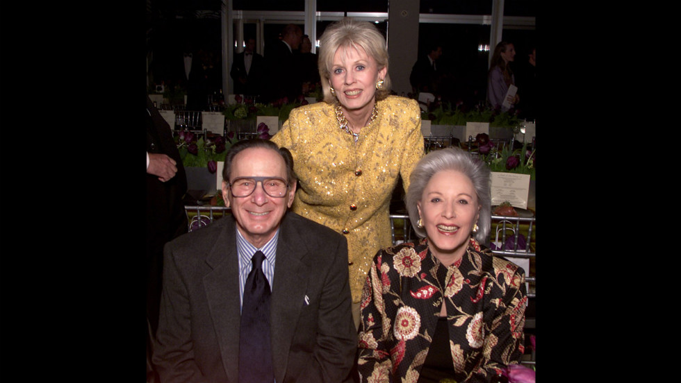 Hal David and his wife, Eunice David (right), pose with Joan Hotchkis at the opening night gala of the Alvin Ailey American Dance Theater in Los Angeles in March 2001.