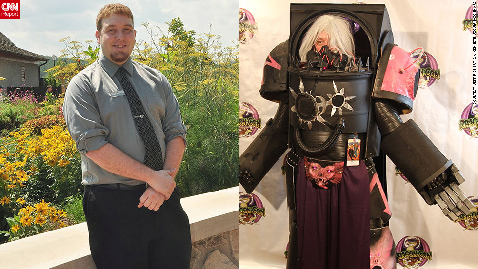 Before and after elaborate costumes of dragoncon ltstronggtjeff rickert as a chaos lord in terminator power armor quot solutioingenieria Images