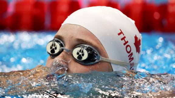 Amber Thomas of Canada competes in the women