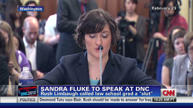 Sandra Fluke campaigns for Obama