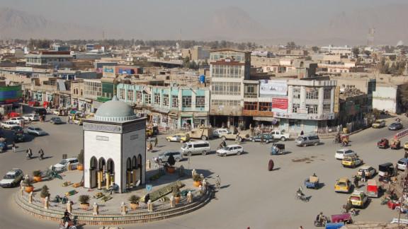 Shaidano Chowk, or Martyrs' Circle, sits at the center of Kandahar.