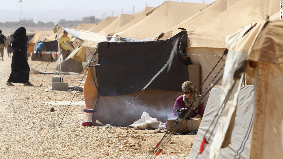 Zau0026#39;atari Refugee c& in northern Jordan about six miles from the & Life inside a Syrian refugee camp