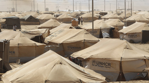The camp was opened less than a month ago to accommodate the growing number of refugees arriving in Jordan since the Syrian uprising began 18 months ago.