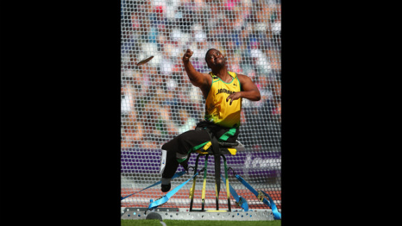 Tanto Campbell of Jamaica competes in the men