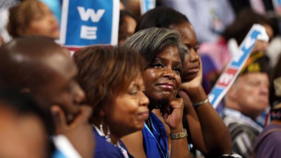 Delegates listen to Michelle Obama
