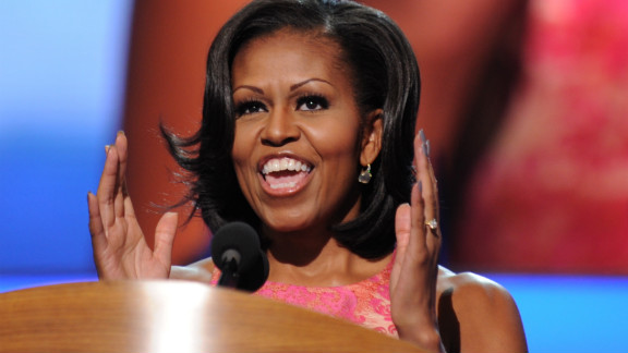 """Barack Obama used to pick Michelle up in a car """"so rusted out, I could actually see the pavement going by"""" through the floor."""