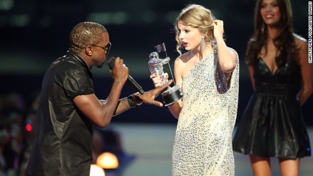"Taylor Swift's 2009 acceptance speech for best female video was cut short when Kanye West rushed the stage and proclaimed, ""Yo Taylor, I'm really happy for you, I'll let you finish, but Beyonce has one of the best videos of all time."" Bey went on to win the video of the year for award for ""Single Ladies (Put a Ring On It)."" She invited the ""You Belong With Me"" singer back on stage to finish her acceptance speech. At the 2010 awards show, Swift forgave West with a song."