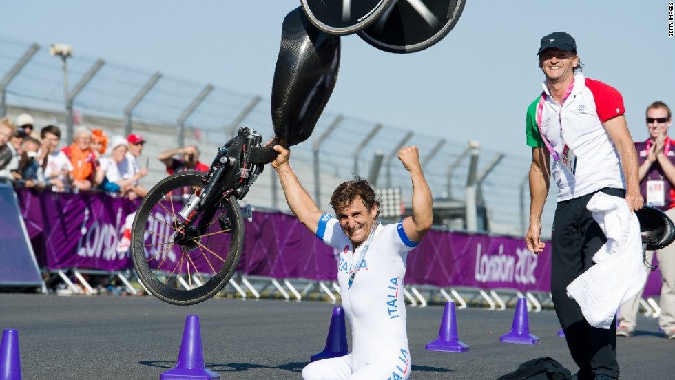 Before taking up hand cycling, he had previously driven on the same Brands Hatch circuit, 20 miles outside of London, in a touring car.