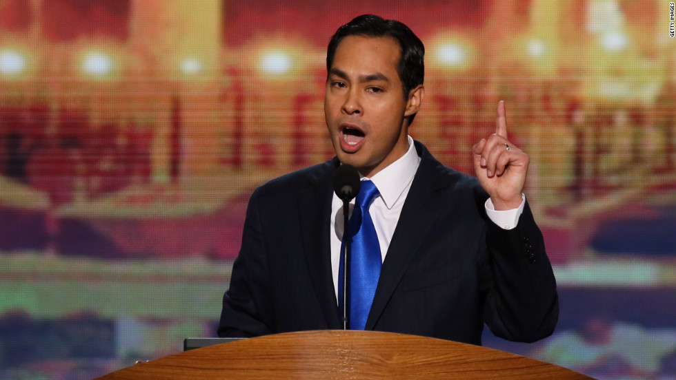 "<strong>September 2012: </strong>San Antonio Mayor Julian Castro gave the keynote address on the first day of the Democratic National Convention. It marked the first time that a <a href=""http://www.cnn.com/2012/09/05/opinion/navarrette-castro-speech/index.html"">Latino had ever delivered the signature address</a> at that event. <br /><br />Castro, 37, was introduced by his twin brother, then-congressional candidate and Texas state Rep. Joaquin Castro. <br /><br />""My grandmother never owned a house,"" Julian Castro said. ""She cleaned other people's houses so she could afford to rent her own. But she saw her daughter become the first in her family to graduate from college. And my mother fought hard for civil rights so that instead of a mop, I could hold this microphone."" <br />"